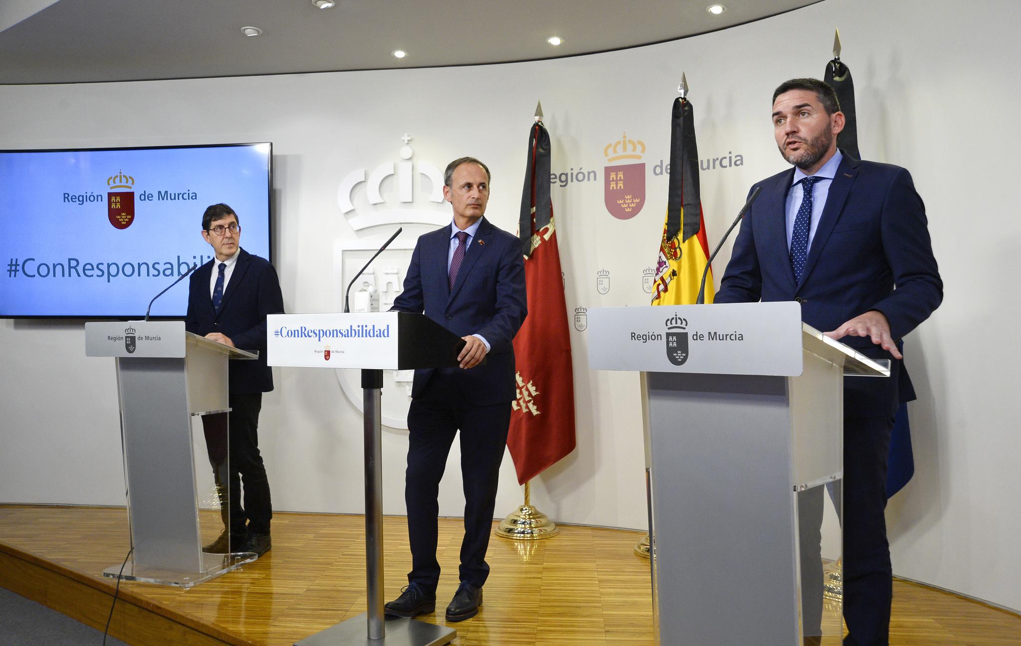 Rueda de prensa posterior a la reunión del Consejo de Gobierno. Imagen: CARM