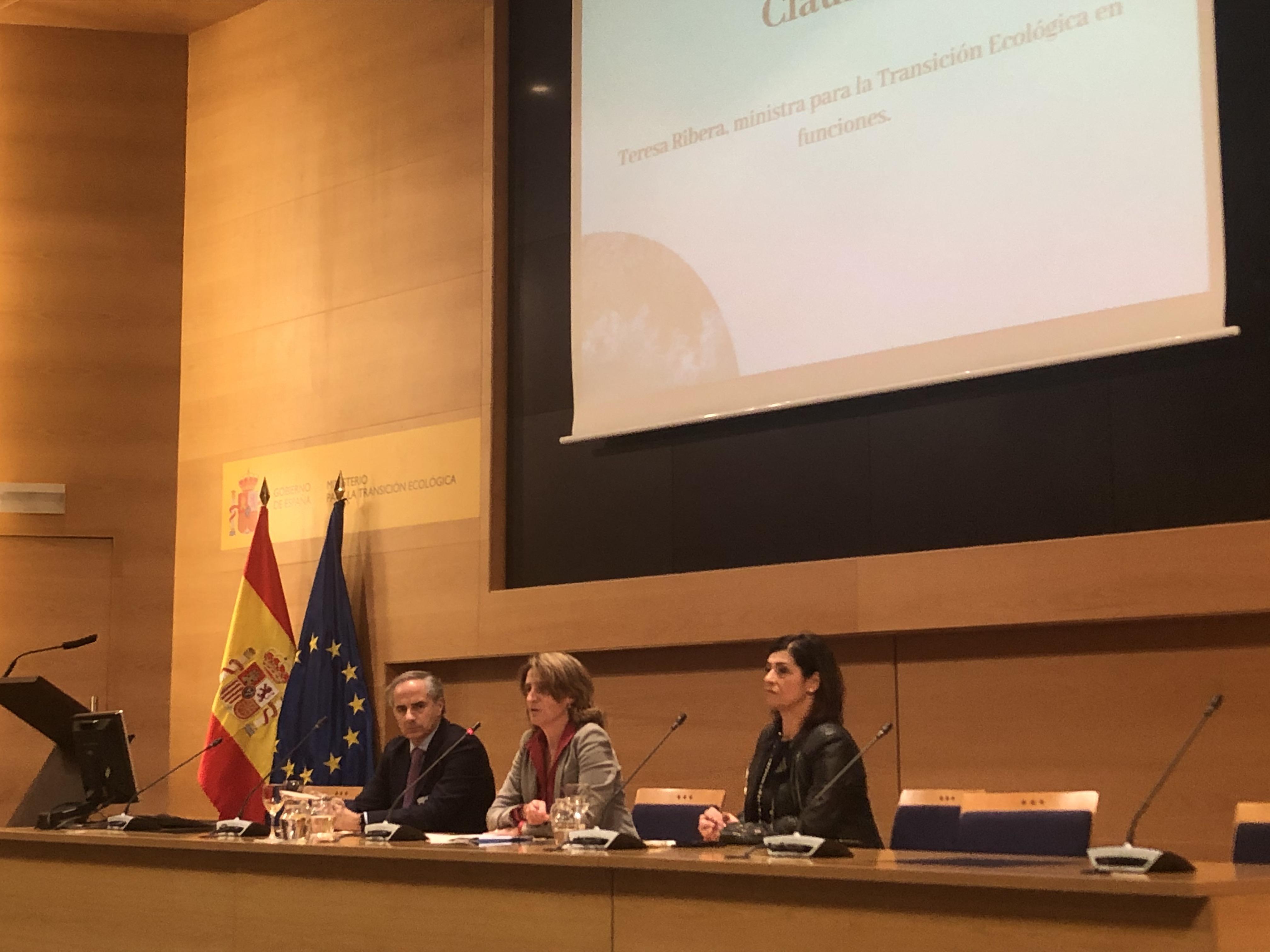 Teresa Ribera ha clausurado hoy el acto de presentación del estudio. Imagen: Miteco