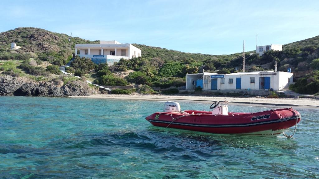 La pequeña ensenada de Isla Grosa.
