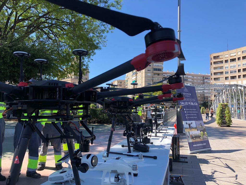 Los drones que el Ayuntamiento de Murcia usará contra el mosquito tigre. Imagen: Ayto. de Murcia
