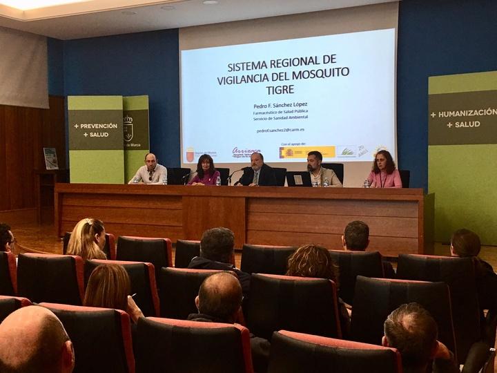 Reunión sobre el nuevo sistema de control del mosquito tigre en la Región de Murcia. Imagen: CARM