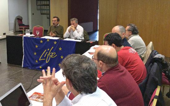 Un momento del desarrollo de la Comisión de Seguimiento del proyecto. Imagen: proyecto Life+Iberlince