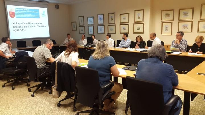 Un momento de la reunión del Consejo Regional de Cambio Climático. Imagen: CARM