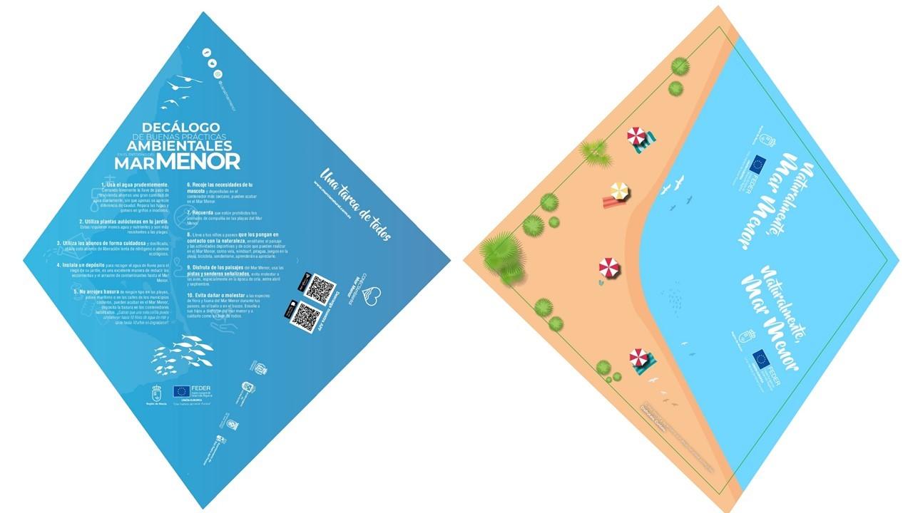 Decálogo de buenas prácticas para ayudar a conservar el mar Menor, de la CARM