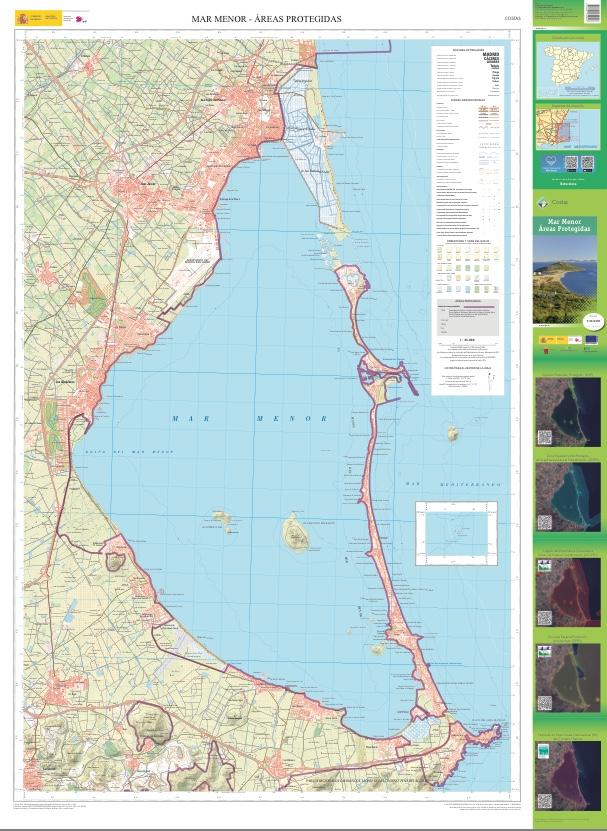 El nuevo mapa del mar Menor en el que se recogen las figuras de protección. Imagen: CARM