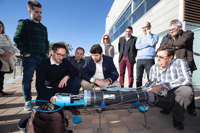 Presentación del 'Nautilus', un innovador prototipo sumergible para monitorizar el Mar Menor. Imagen: CARM