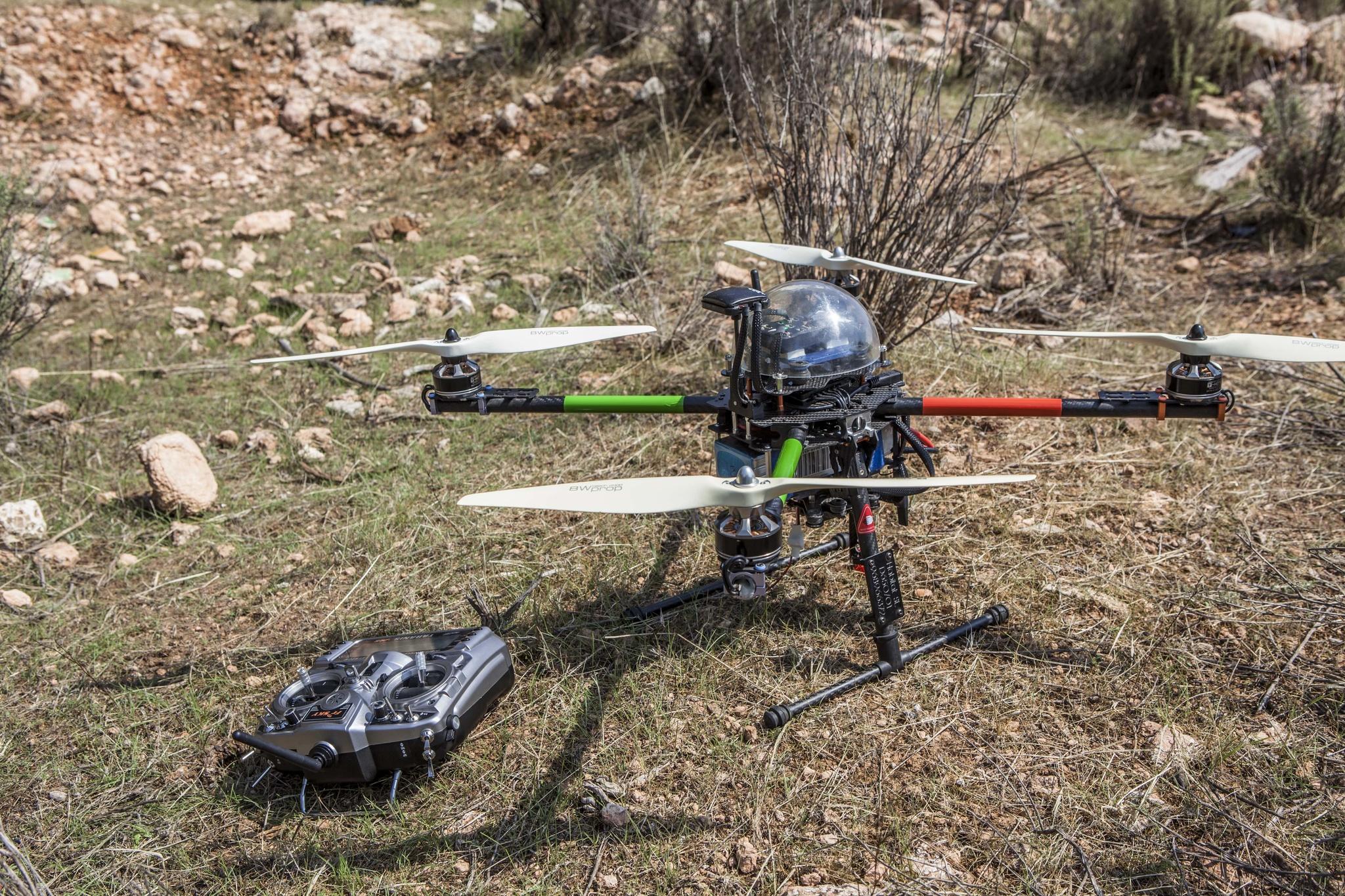Drones para controlar la procesionaria. Imagen: CARM