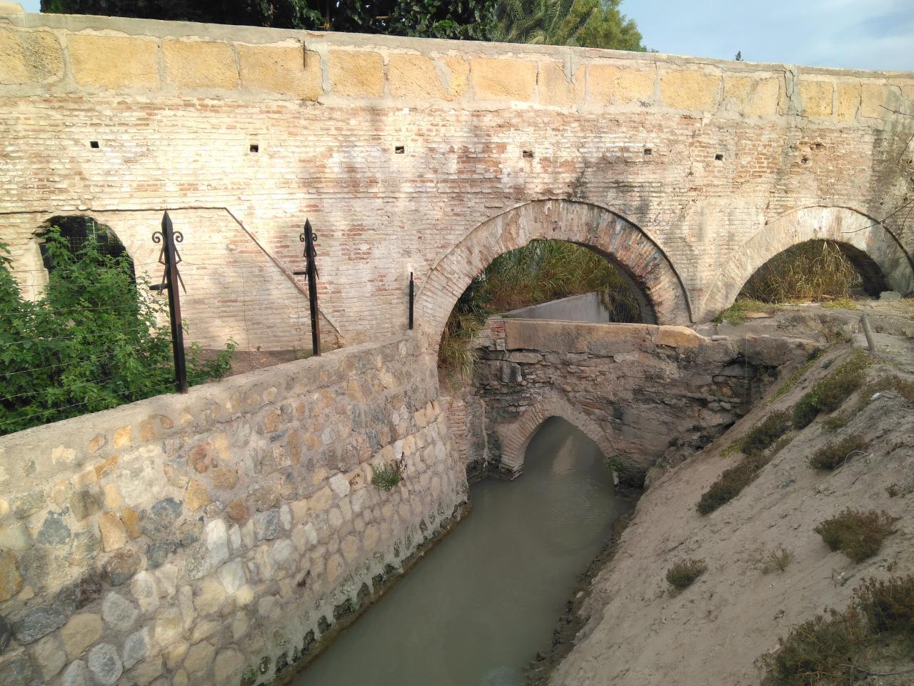 Acueducto de la Rueda de Alcantarilla. Imagen: Huermur