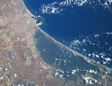 Vista aérea de La Albufera. Imagen: NASA