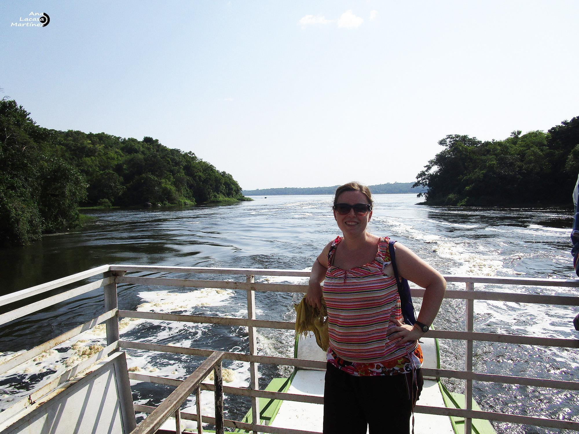 La bloguera Ana Lacasa Martínez, en Uganda