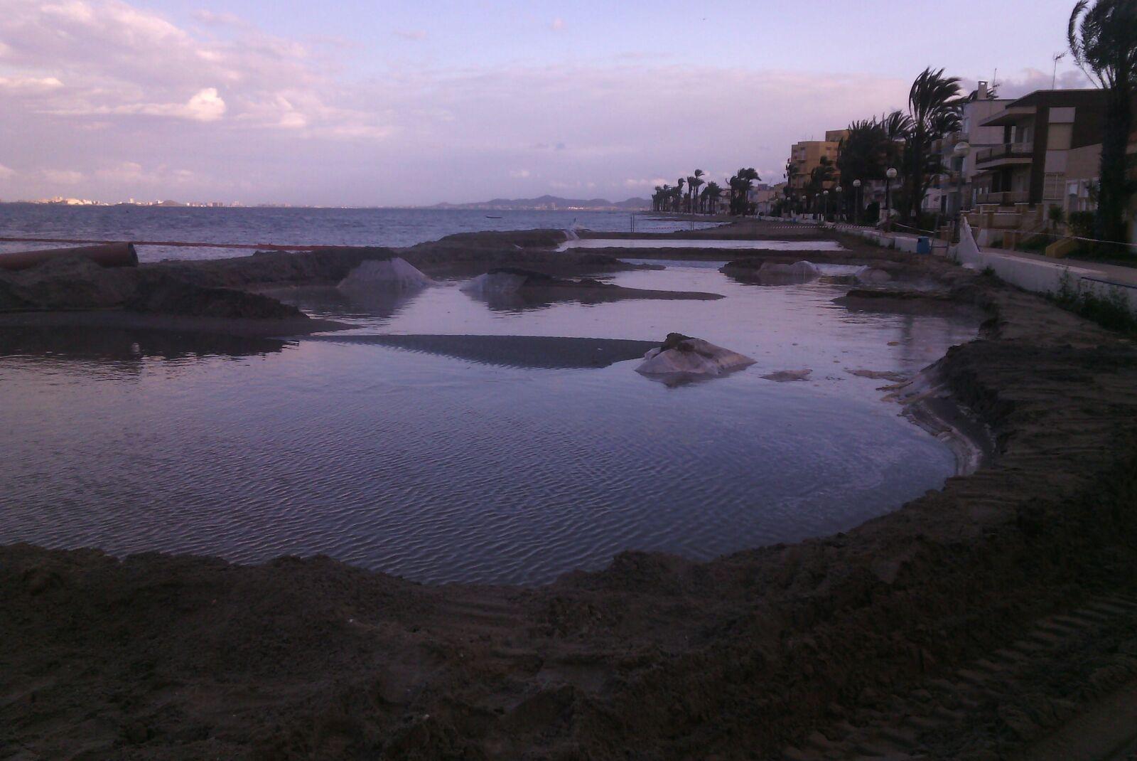 Estado de las orillas. Imagen: ANSE