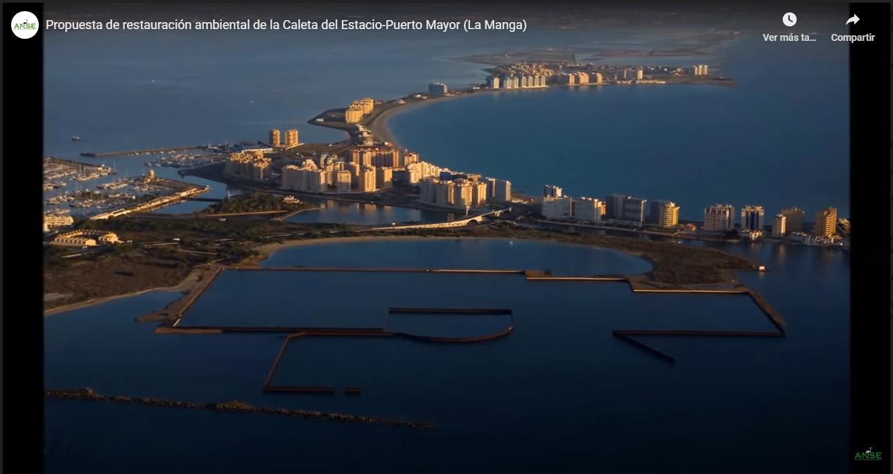 Fotograma del vídeo 'Propuesta de restauración ambiental de la Caleta del Estacio-Puerto Mayor (La Manga)' de ANSE