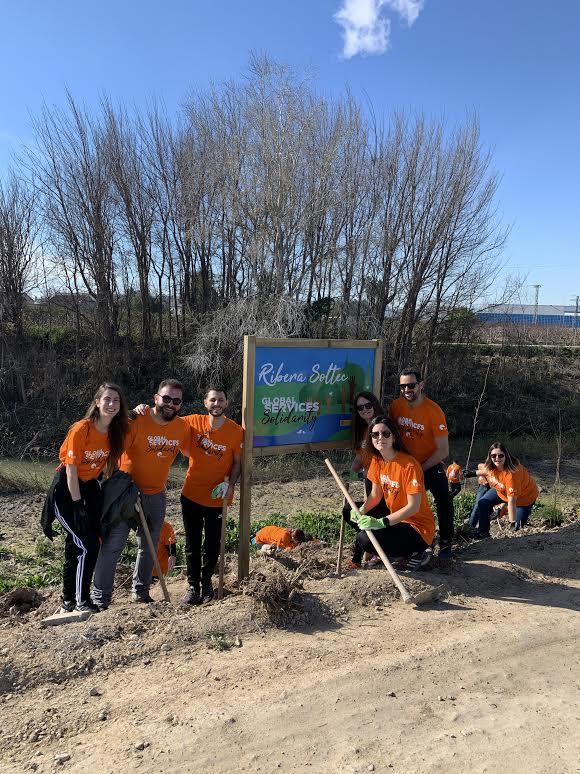 Los voluntarios plantaron saúcos, fresnos, álamos, olmos, tarajes y baladres. Imagen: ANSE