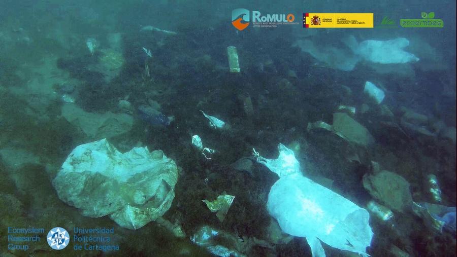 Basura detectada dentro del proyecto Rómulo. Imagen: UPCT