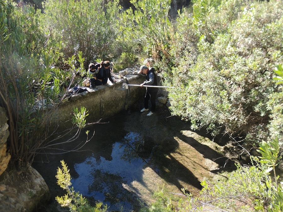 Actuaciones de adecuación de infraestructuras para los anfibios. Imagen: Caramucel