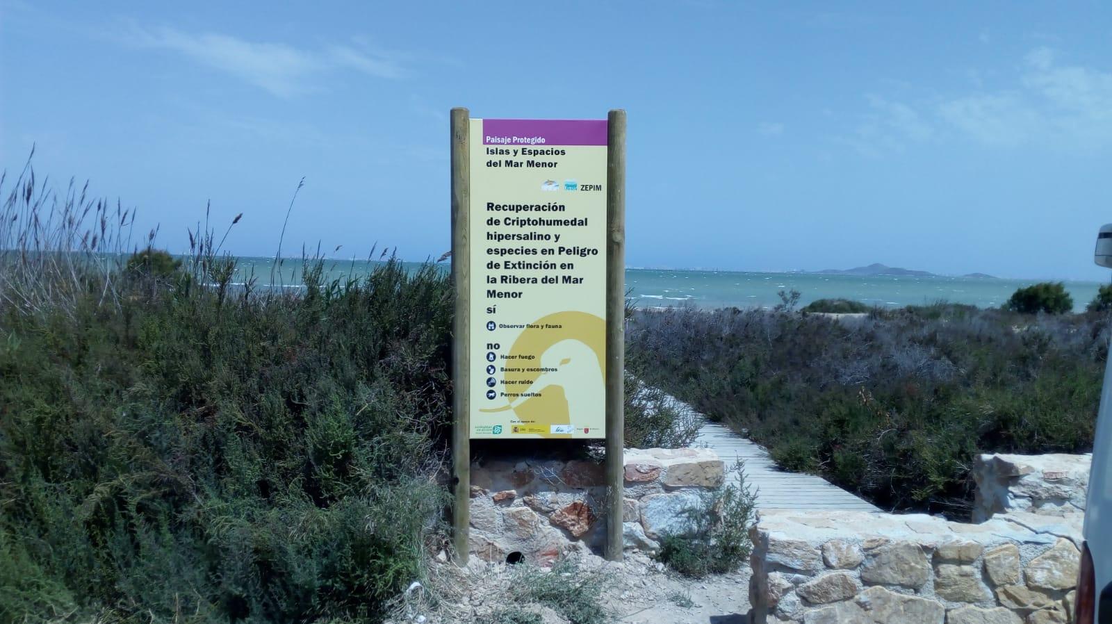 Cartel informativo del desarrollo del proyecto. Imagen: EEA