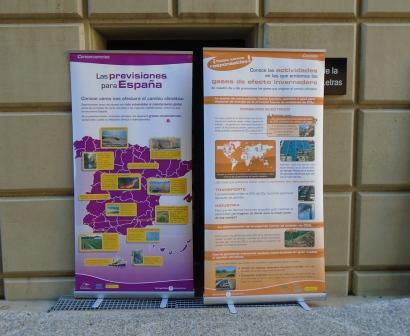 Cartel contra el Cambio Climático en la Feria por el Clima celebrada el pasado 28 de noviembre  en Murcia