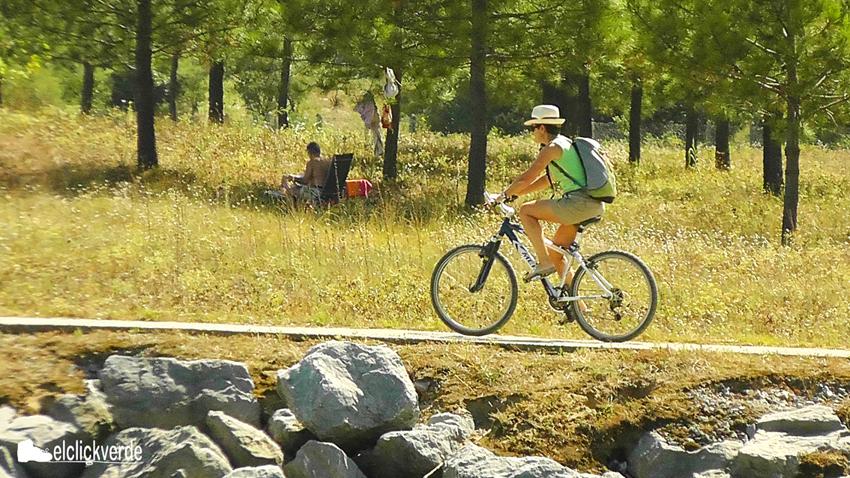 La bicicleta, entretenimiento y deporte en el campo, medio de transporte en la ciudad.