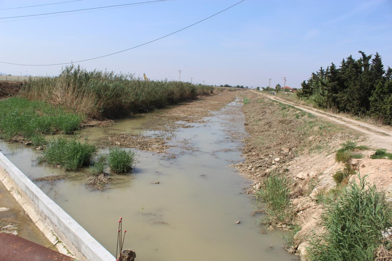 desembocadura de la Rambla del Albujón, que ya fue transformada para desviar su cauce natural. Imagen: SEO/BirdLife y Ecologistas en Acción