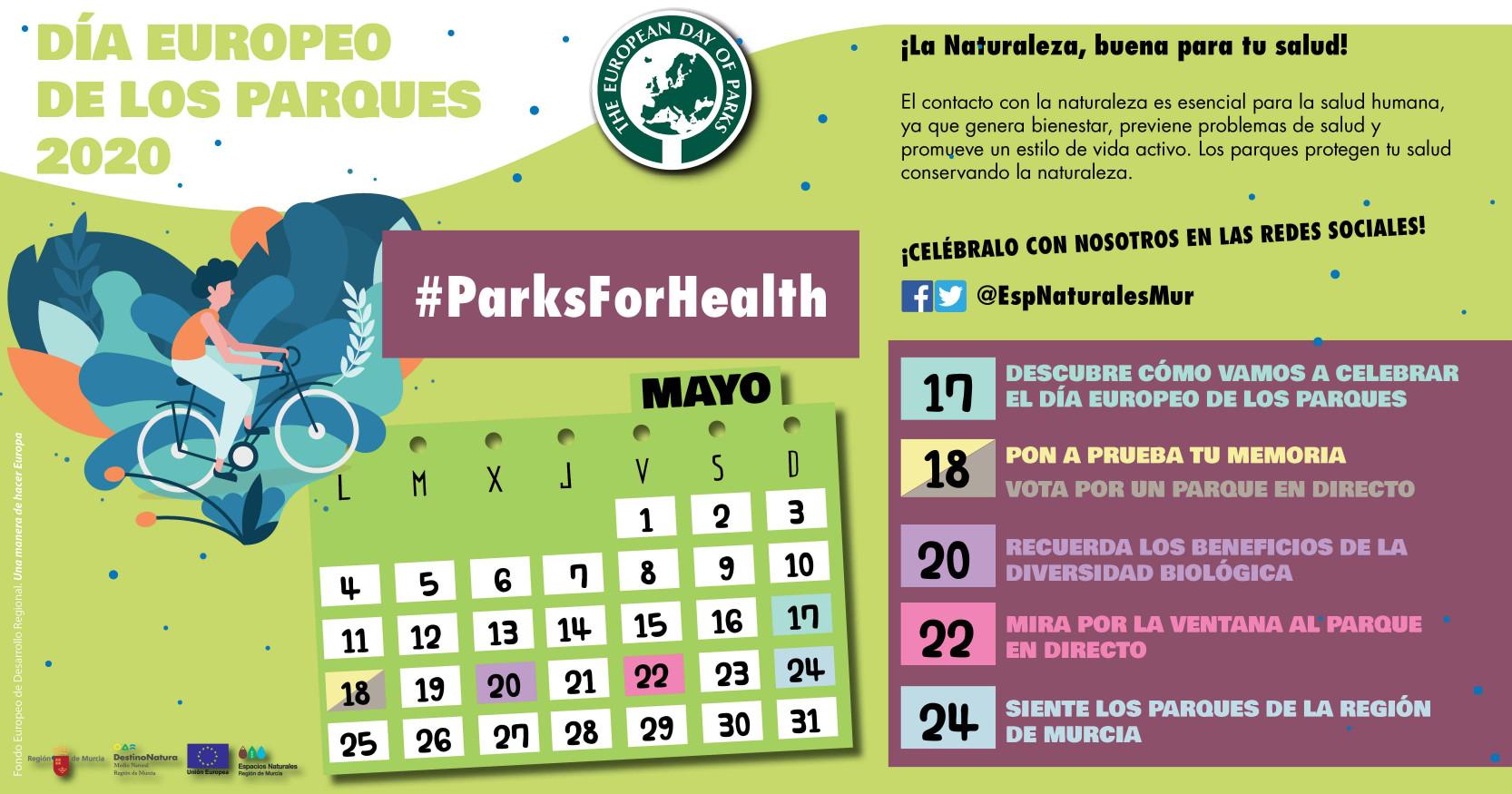 Día Europeo de los Parques 2020, Región de Murcia