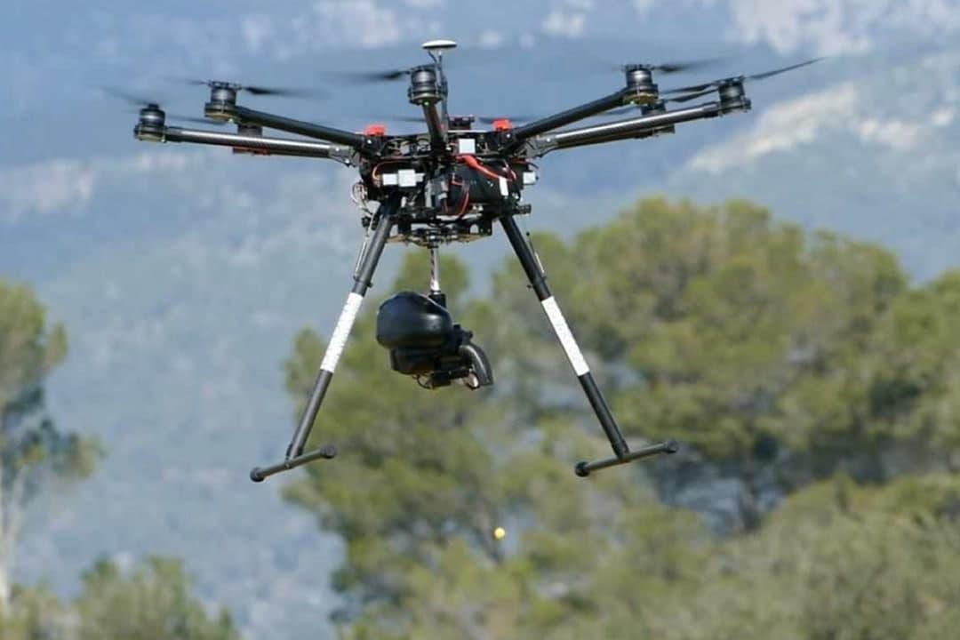 Dron para la dispersión de semillas. Imagen: Huermur