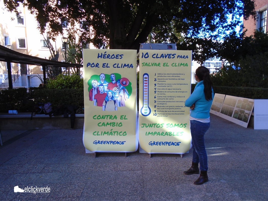 'Héroes por el clima', cartel de Greenpeace.