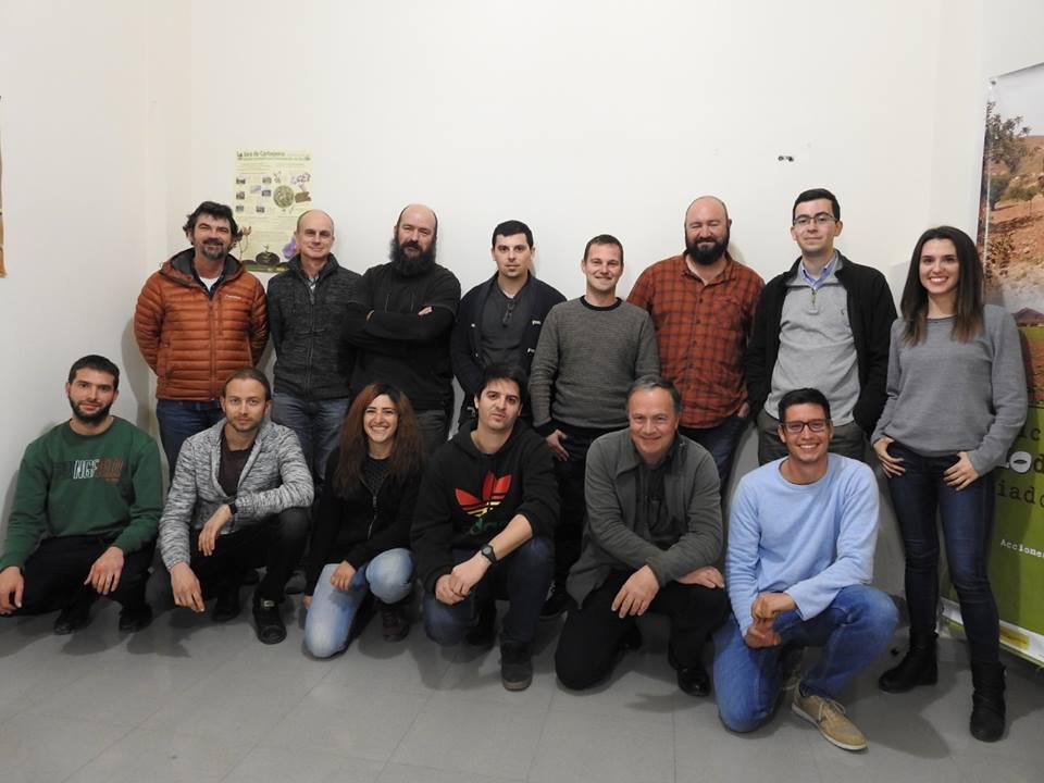 Parte de los integrantes del Proyecto Encebra, en la última reunión. Imagen: Antonio Zamora