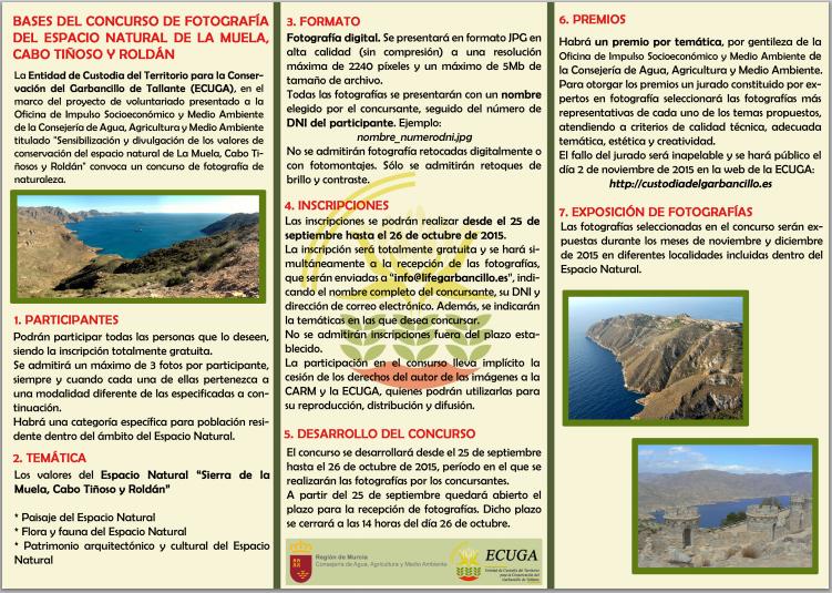 Bases del Concurso de Fotografía sobre el ENP La Muela, Cabo Tiñosos y Roldán