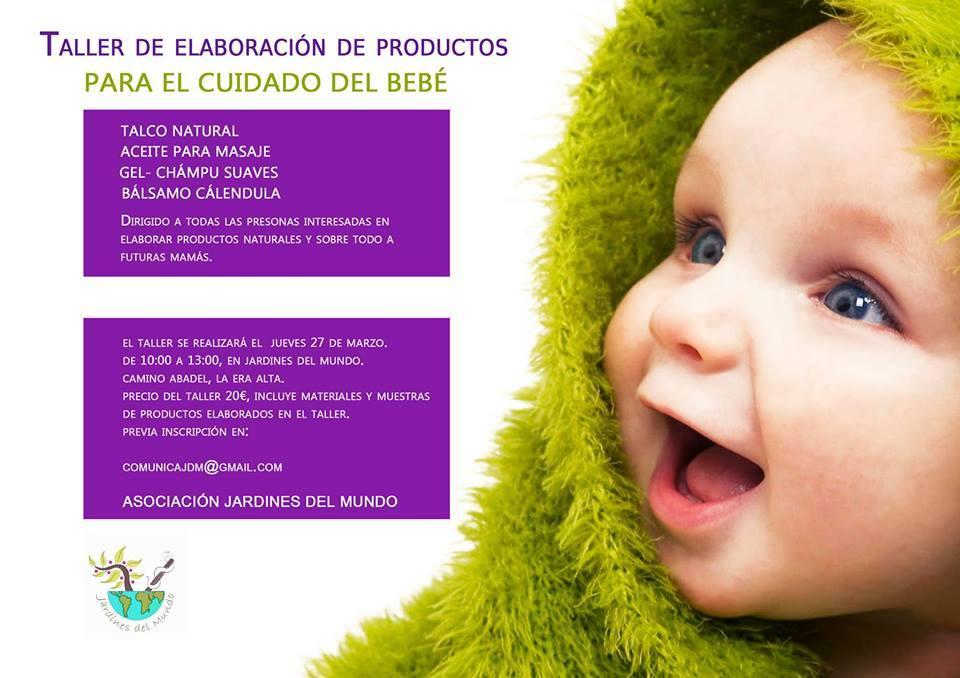 Taller ecocosméticos para el bebé