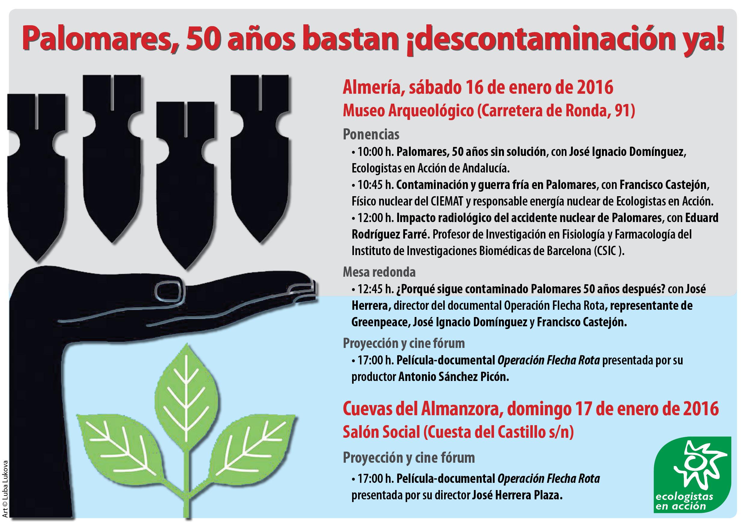 Jornada por la descontaminación de Palomares. Programas.
