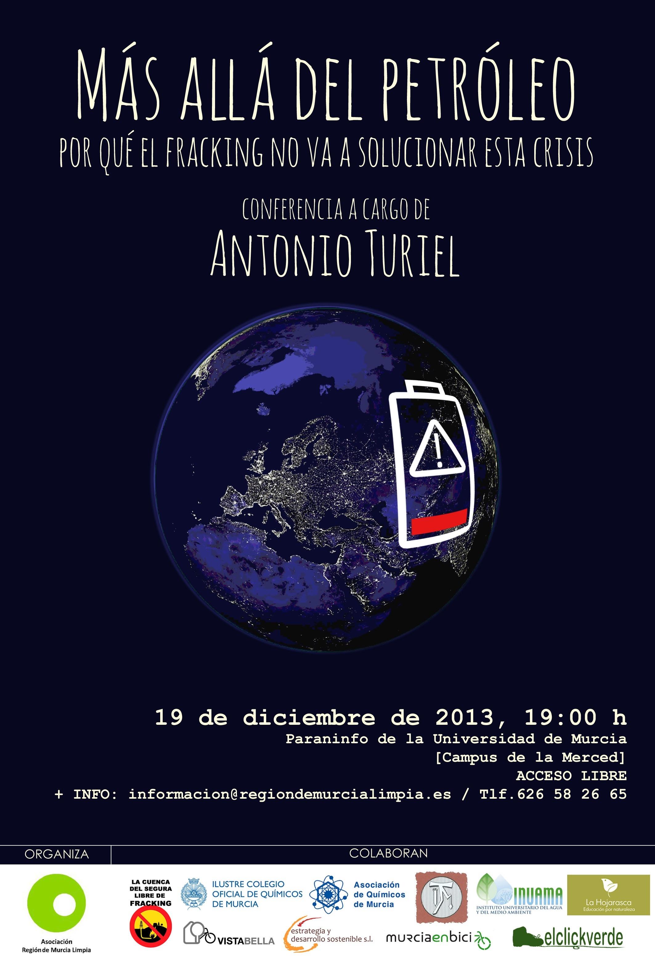 Jue. 19 dic. de 2013. 19:00 h. Paraninfo de la UMU (La Merced).