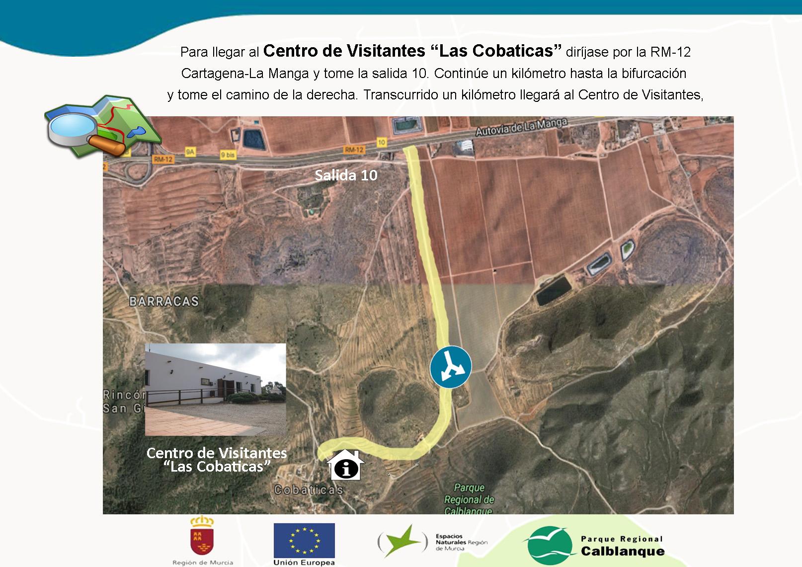 Ubicación del Centro de Visitantes Las Cobaticas