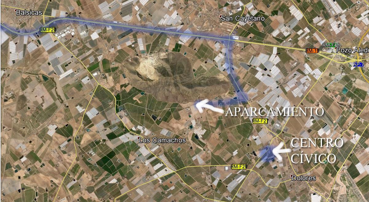 Mapa de acceso a la Sima de Las Palomas