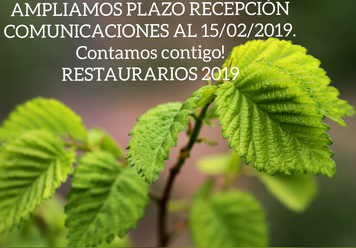 Plazos de recepeción de comunicaciones en RestauraRíos 2019