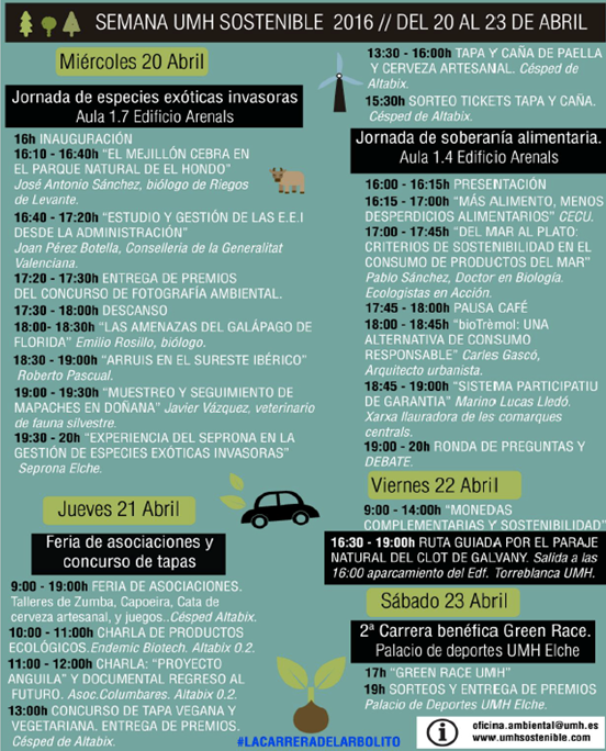 Programa de la Semana UMH Sostenible