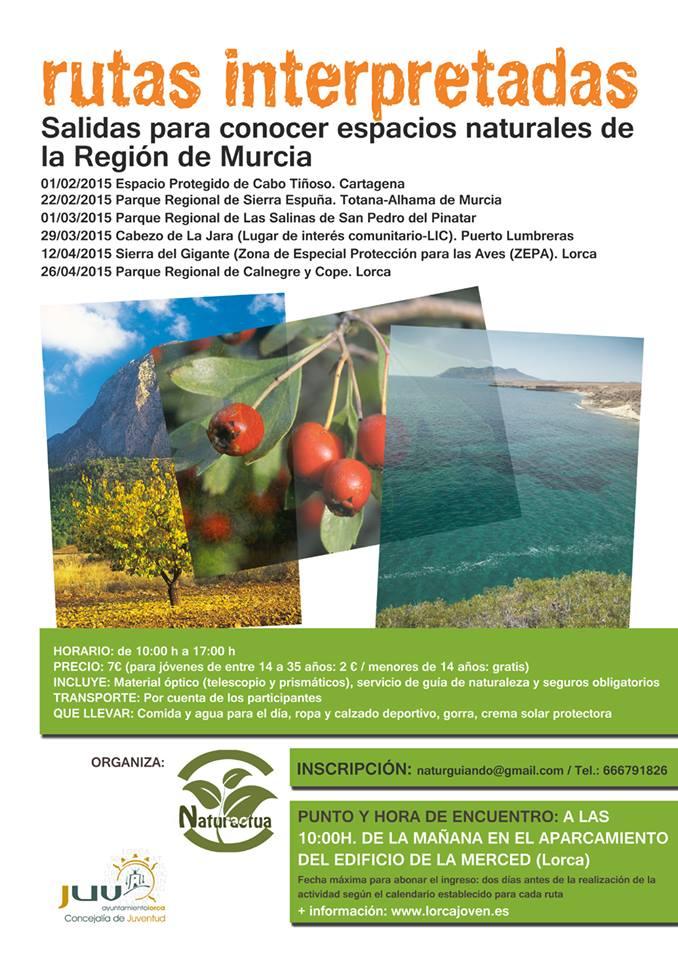 Programa de rutas interpretadas para conocer los ENP con el Ayto. de Lorca.