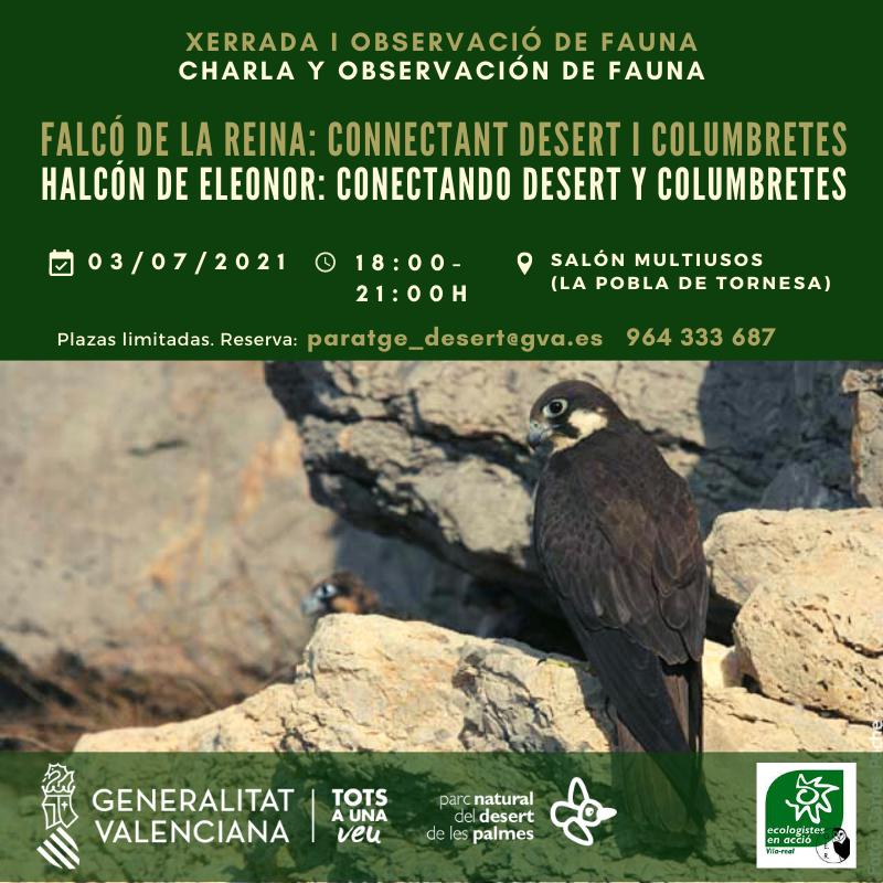 Charla para conocer el halcón de Eleonor, con el GV