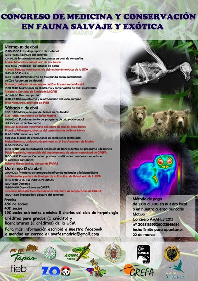 Congreso de Medicina y Conservación en Fauna Salvaje y Exótica de Avafes en Madrid