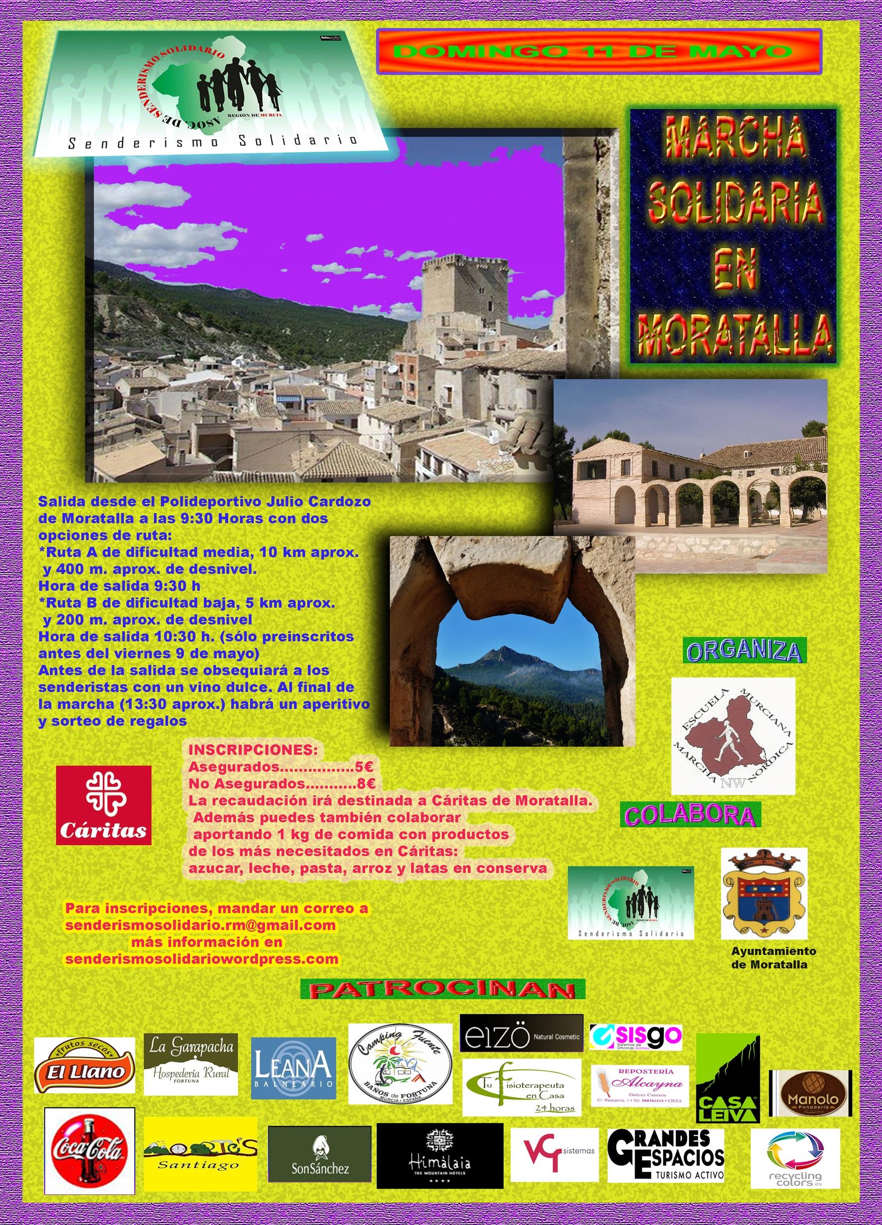 Marcha solidaria a Moratalla 11 de mayo