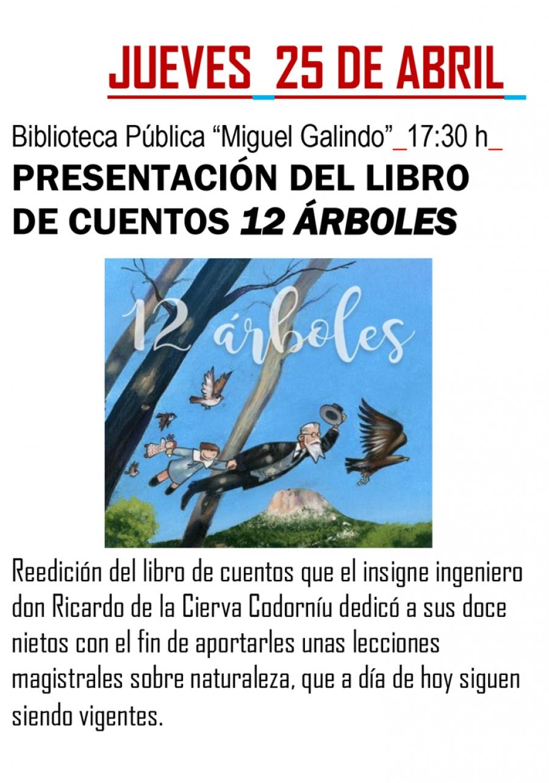 Reedición del libro 12 Árboles, de Ricardo Codorniú, con el Ayto. de Los Alcázares