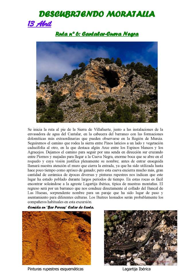Moratalla - Cantalar - Explicación
