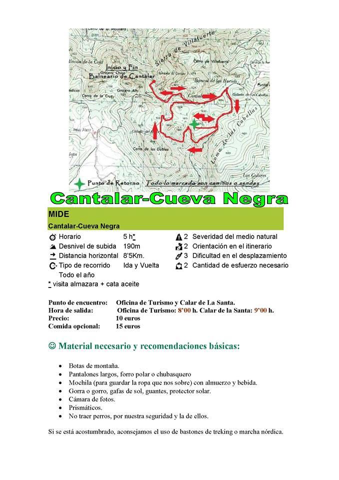 Moratalla - Cantalar - Datos técnicos