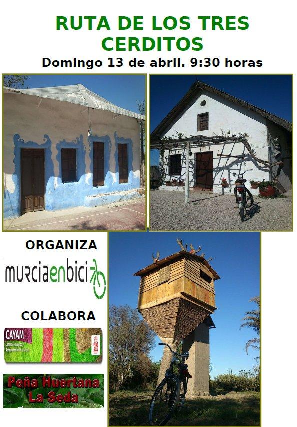 Ruta de los 3 cerditos de Murcia en Bici