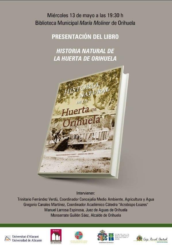 Presentación de libro sobre la huerta de Orihuela