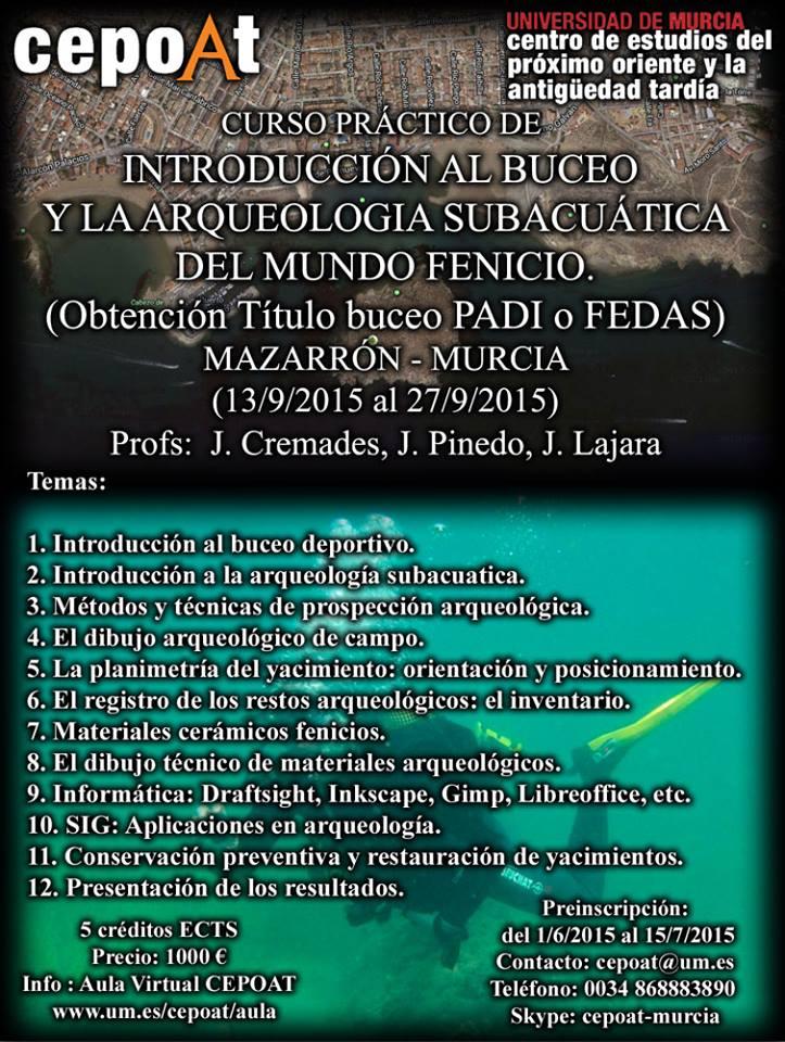 Introducción al Buceo y Arqueología Subacuática del mundo fenicio
