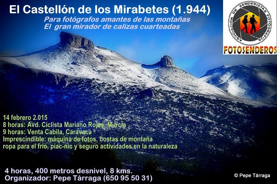 Salida de Fotosenderos al Castellón de los Mirabetes