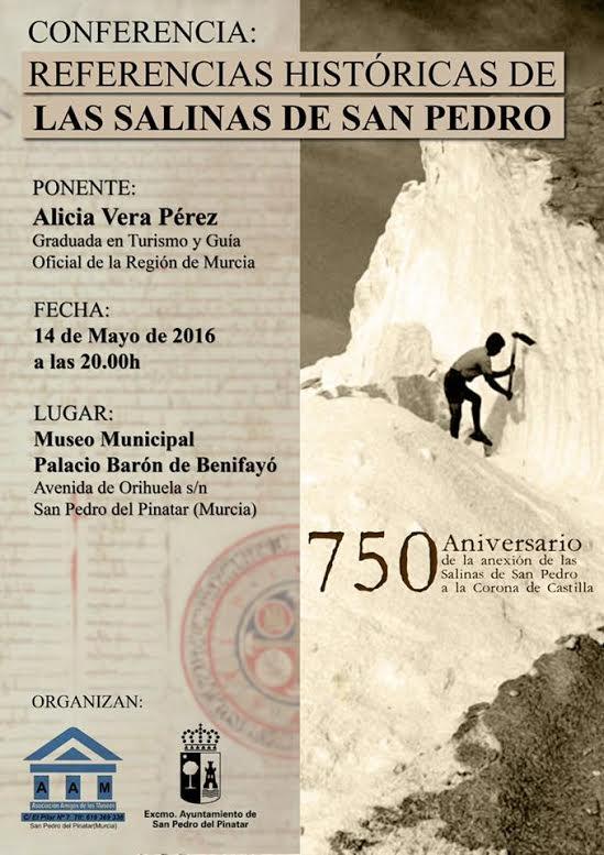 Conferencia 'Referencias históricas de las Salinas de San Pedro'.