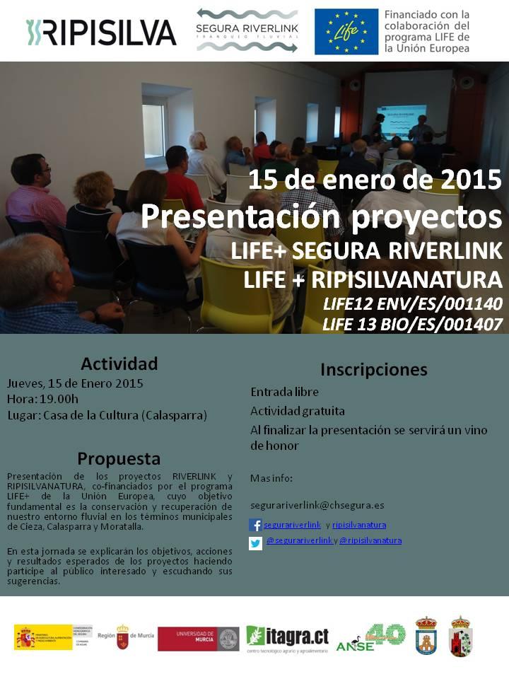 Presentación de proyectos relacionados con el río Segura