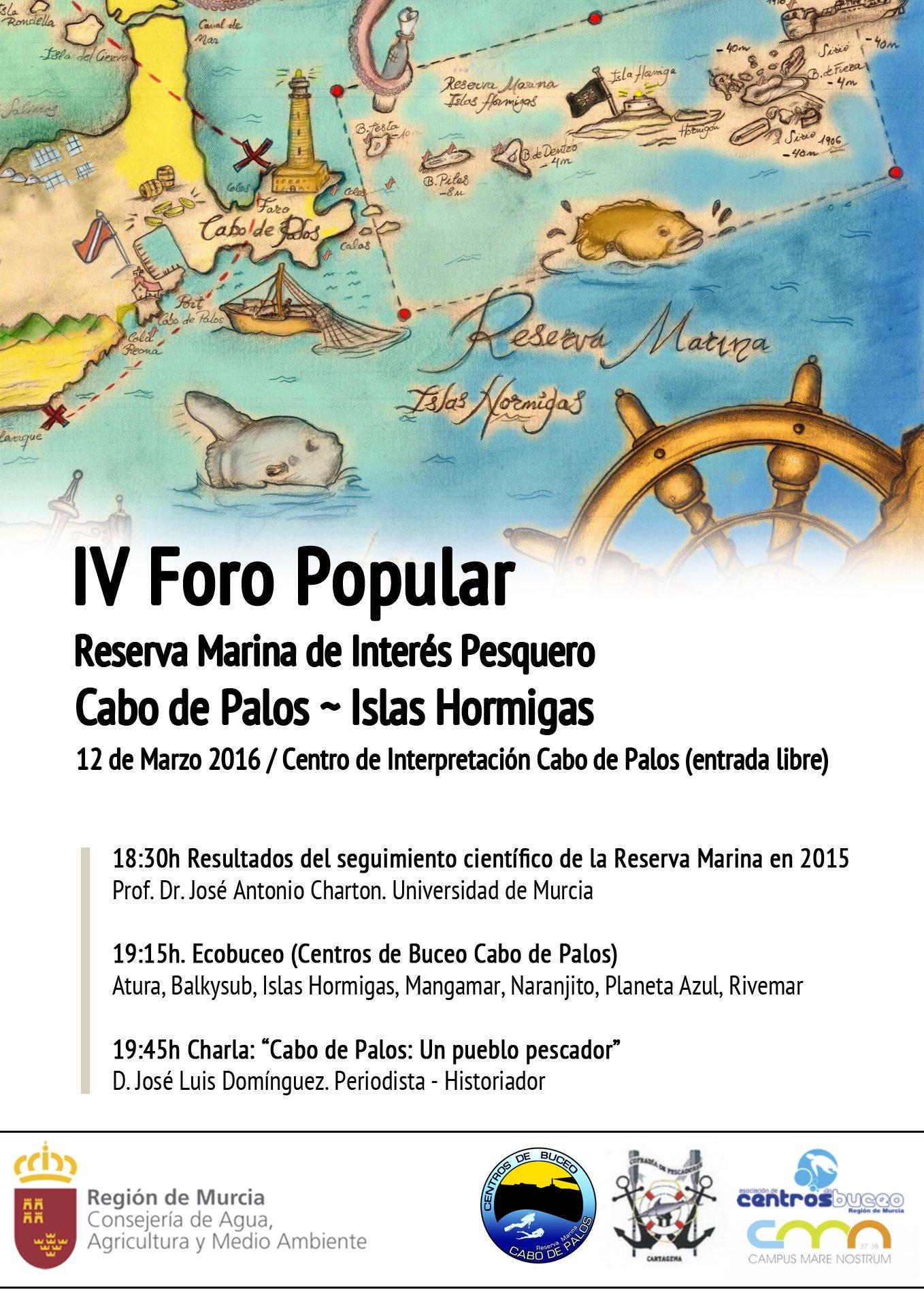 IV Foro Popular Reserva Marina de Interés Pesquero Cabo de Palos - Islas Hormigas.