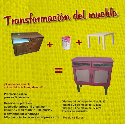 Cartel del taller de reciclaje de muebles de arteca